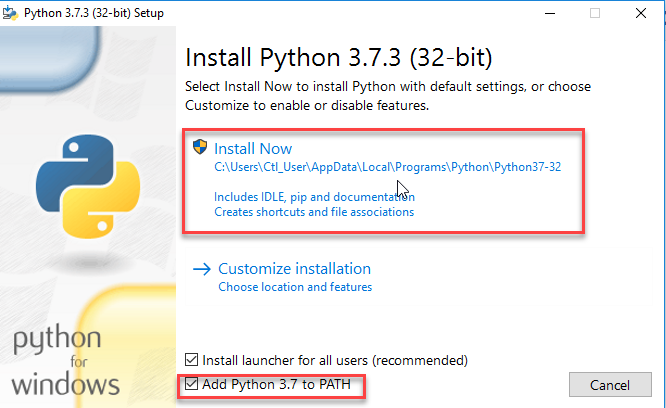 install python code