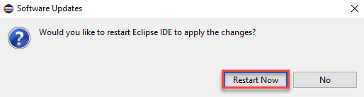 restart eclipse IDE now