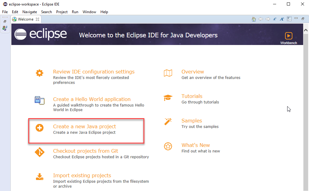 create java project